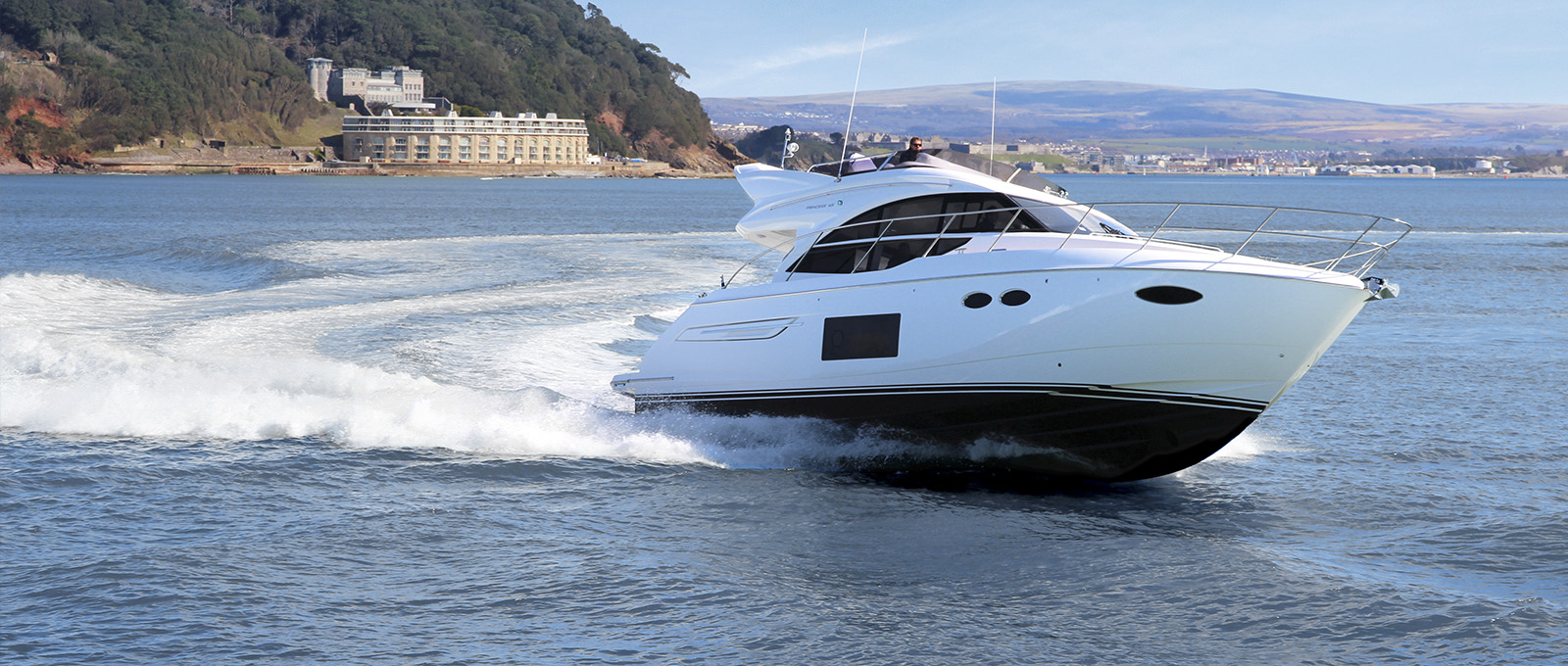 Princess 49, avalible in Australia from the Boutique Boat company